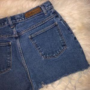 Vintage Bill Blass High Waist Denim Cutoff Shorts